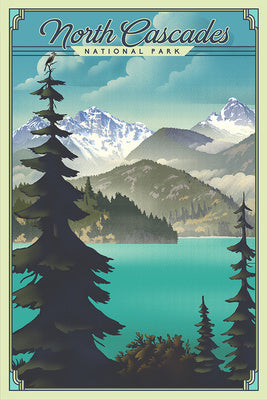 Washington - North Cascades National Park Lithograph