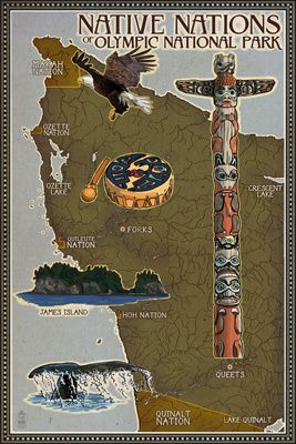 Washington - Olympic National Park - Map of Native Tribes
