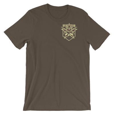 Never Underestimate The Tenacious Power A Father Who Is Also A US Veteran Men's T-Shirt Front Army