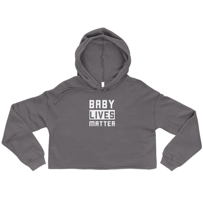 Baby Lives Matter Women's Cropped Hoodie Strom