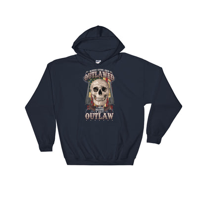 When Guns Are Outlawed I Will Become An Outlaw Men's Hoodie Navy