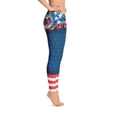 Stars And Eagles Women's Leggings Right