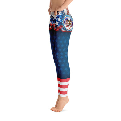 Stars And Eagles Women's Leggings Left