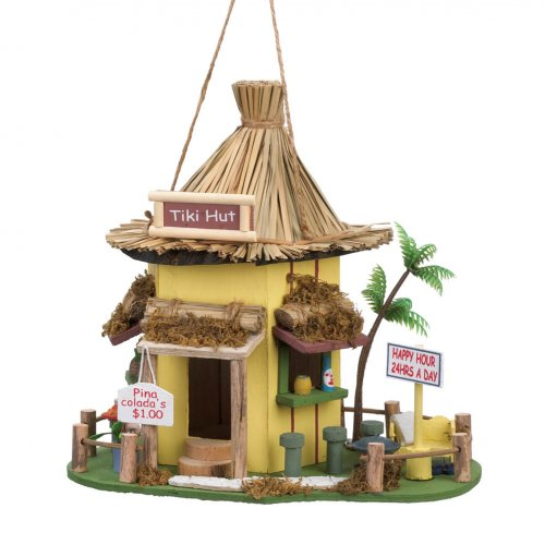 Tiki Wood Birdhouse