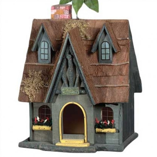Thatch Roof Chimney Birdhouse