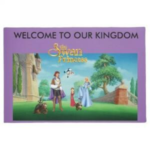 Swan Princess Door Mat
