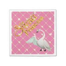 Swan Princess Paper Party Napkin