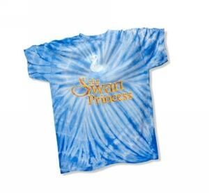 Swan Princess T-shirt, Women's Blue Medium