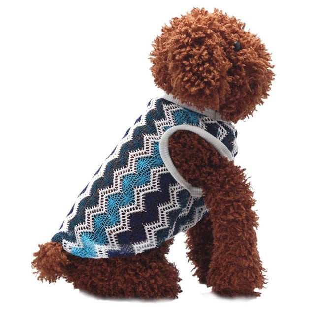2015 Good Quality Breathable Net Fabric Dog Clothing Vest T-shirt Poodle Vest Pets summer clothes  t-shirts for dogs clothing