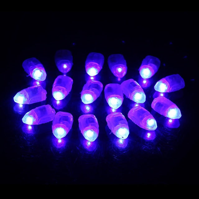 50X LED Balloon Lights Colour Light Paper Lantern Lamp Glow Wedding Party Six colors available Party  Wedding Decoration