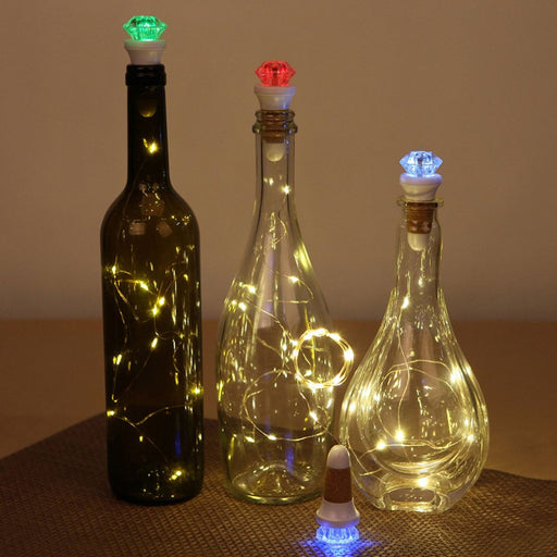 Romance LED Cork Light bar usb rechargeable Bottle Stopper Lights Glass Wine Wire fairy String lamp Party Wedding Colorful Home