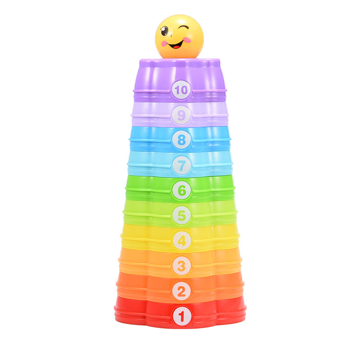 Rainbow Stacking Cups for Baby Early Development