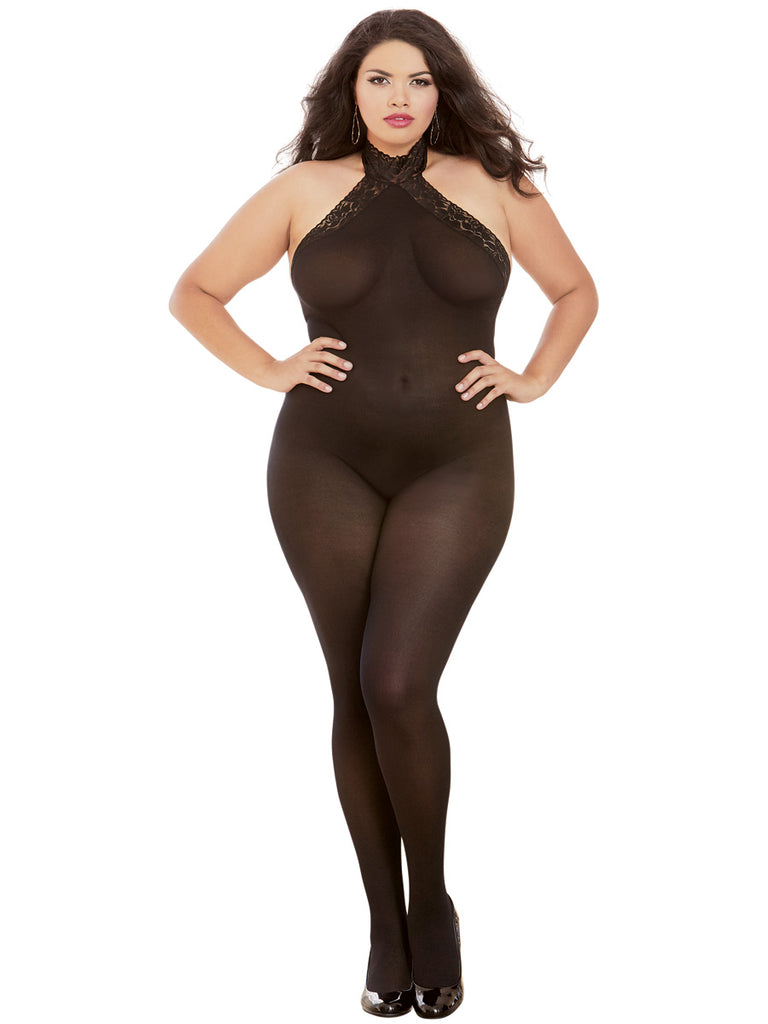 bodystocking queen black
