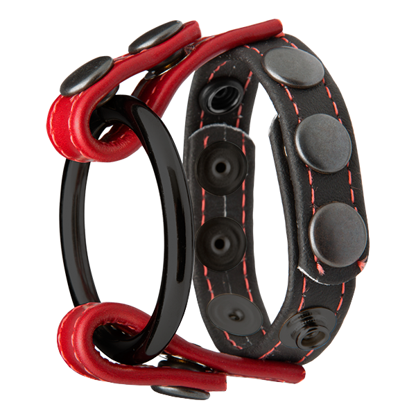 Kink Leather Master Ring Black & Red