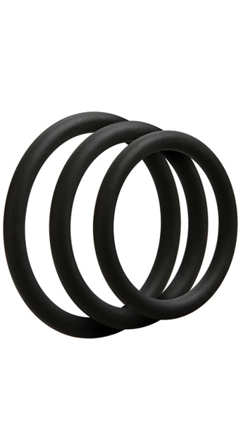 Optimale 3Pc C-Ring Set Thin Black