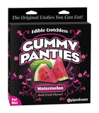 Edible Crotchless Gummy Panties W/Melon