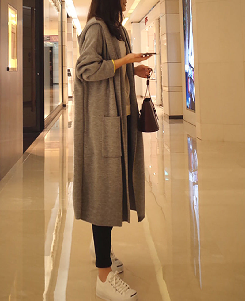Casual Loose Long Sleeved Knitted Cardigan
