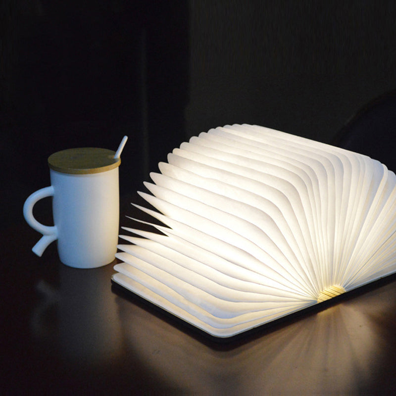 Creative  Wooden Folding Book Light