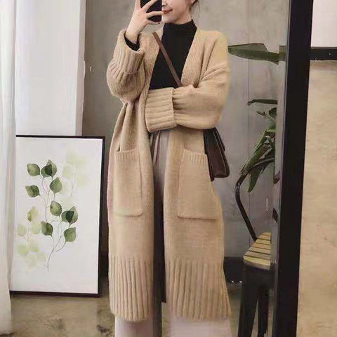 Lazy Wind Big Pocket Sweater Coat