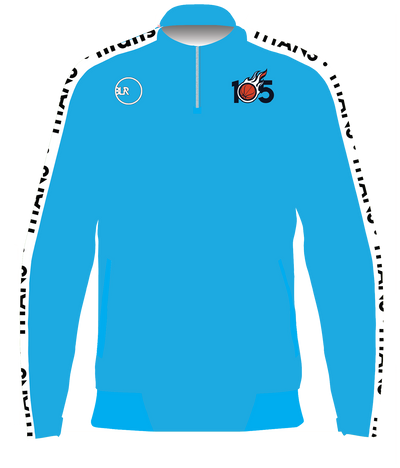 PROJECT 105 QUARTER ZIP TRAINING PULLOVER (CYAN)