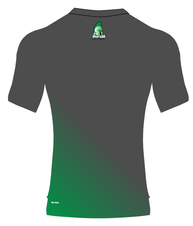 SPARTANS POLYESTER PERFORMANCE TEE (GRAY/GREEN GRADIENT)