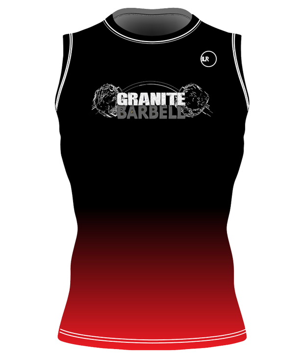 GB UNISEX PERFORMANCE SLEEVELESS TOP (BLACK/RED)