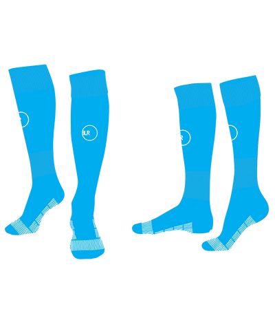 SOCCER SOCKS (CAROLINA BLUE/WHITE)
