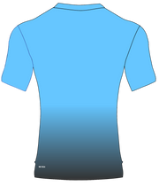 POLYESTER PERFORMANCE TEE (CAROLINA BLUE/GRAY GRADIENT)