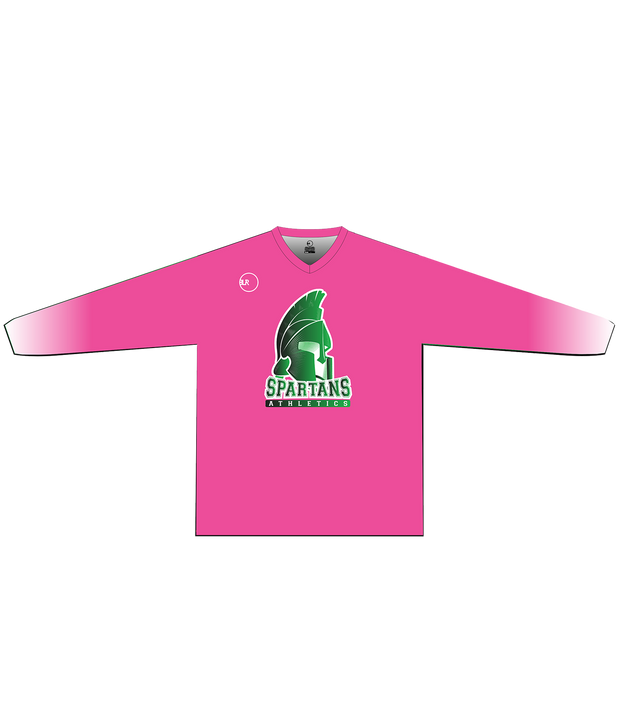 SPARTANS POLYESTER PERFORMANCE L/S (PINK/WHITE GRADIENT)
