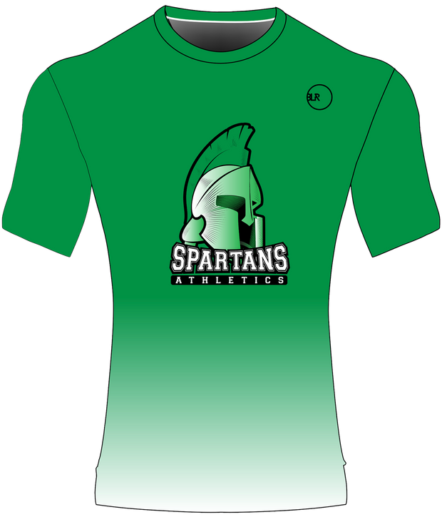 SPARTANS POLYESTER PERFORMANCE TEE (GREEN GRADIENT)