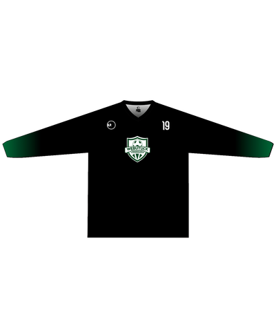 WEBUTUCK POLYESTER PERFORMANCE L/S (BLACK/GREEN GRADIENT)