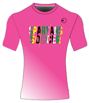 SPARTANS POLYESTER PERFORMANCE TEE (PINK/WHITE GRADIENT)