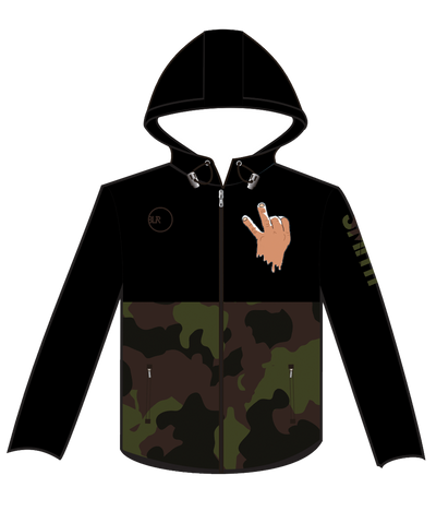 WATER RESISTANT WINDBREAKER (CAMO/BLACK)
