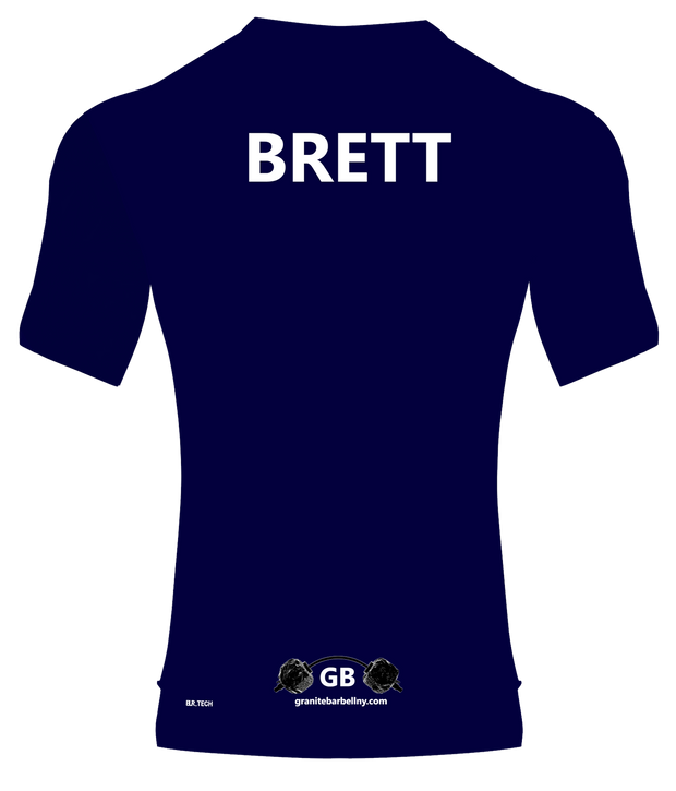 GB WOMEN'S PERFORMANCE V NECK TOP (NAVY)