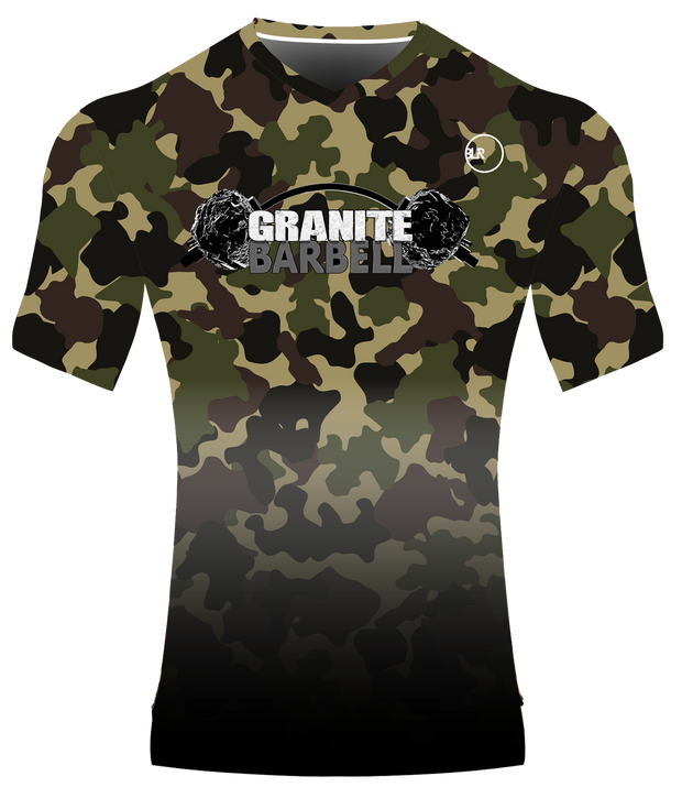 GB WOMEN'S PERFORMANCE V NECK TOP (CAMO/BLACK)