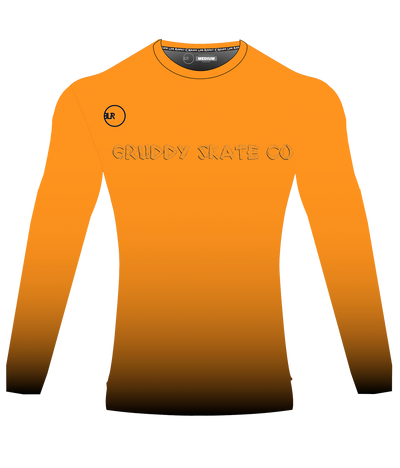 POLYESTER PERFORMANCE L/S (ORANGE/BLACK)