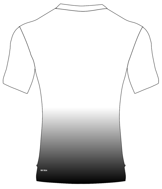 POLYESTER PERFORMANCE TEE (WHITE/BLACK GRADIENT)
