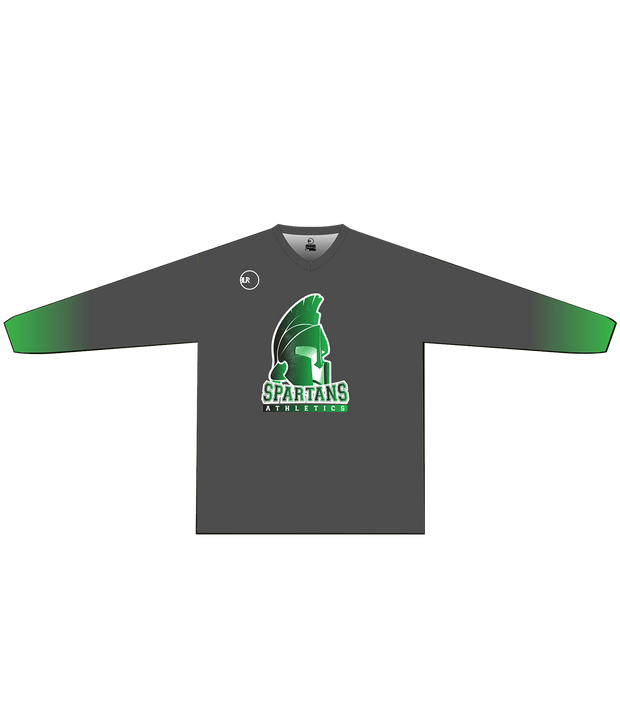 SPARTANS POLYESTER PERFORMANCE L/S (GRAY/GREEN GRADIENT)