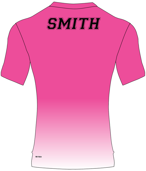 SPARTANS POLYESTER PERFORMANCE TEE (PINK GRADIENT)