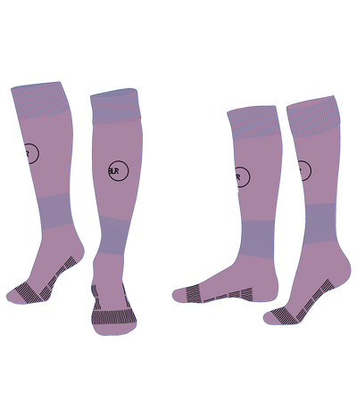 SOCCER SOCK (PURPLE/BLACK)