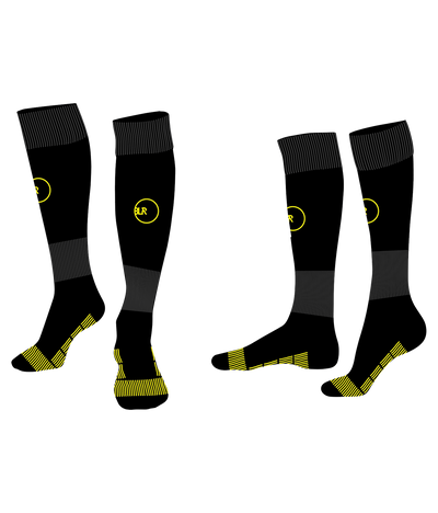 SOCCER SOCKS (BLACK/NEON YELLOW)
