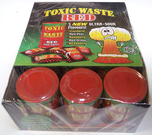 Red Toxic Waste Drum Candy Sweets