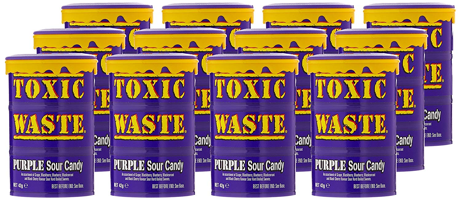 Purple Toxic Waste Drum Candy Sweets