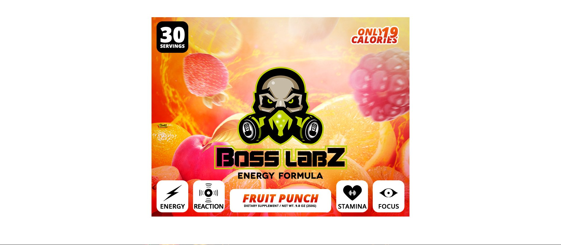 Boss Labz Fruit Punch - 30 Servings