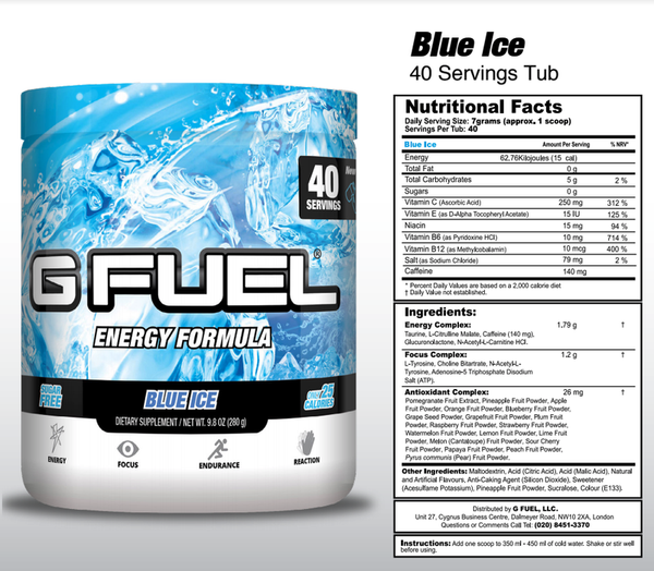 G Fuel Blue Ice Tub - 40 Servings