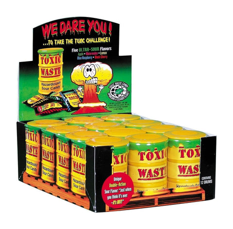 Yellow Toxic Waste Drum Candy Sweets