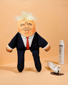 Donald Trump dog toy with fake tan