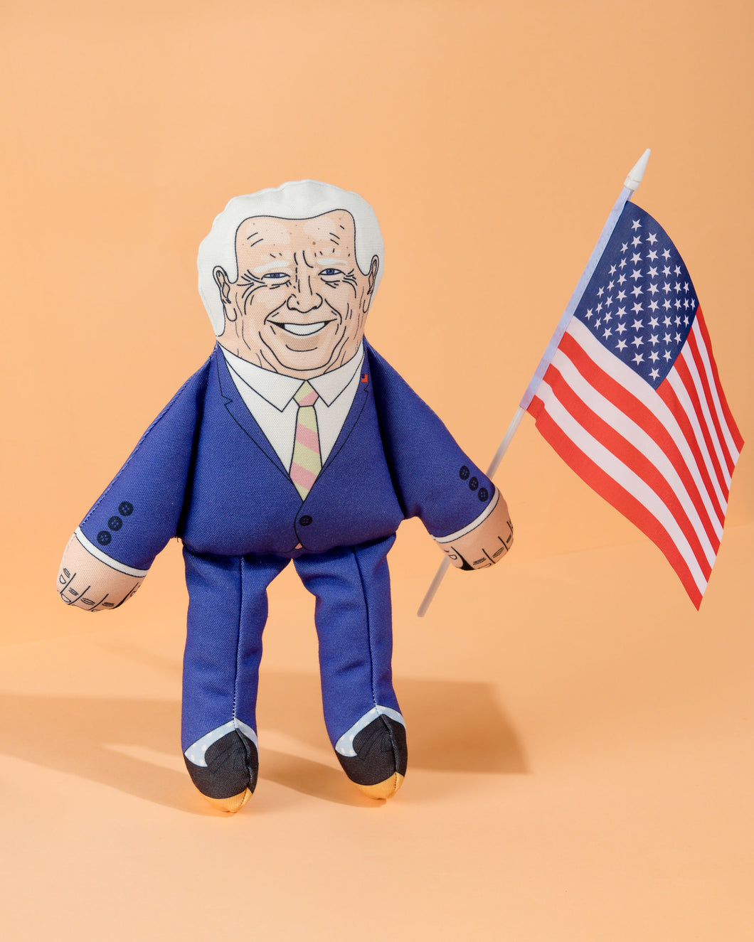 Joe Biden dog toy with American flag