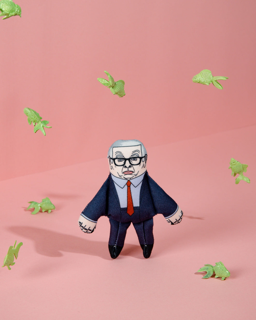 Michael Gove cat toy surrounded by fish