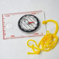 Drawing Scale Compass DC35-1A Compass Survival Tool Buckle Car Camping Hiking Pointing Guide Portable Handheld Compass